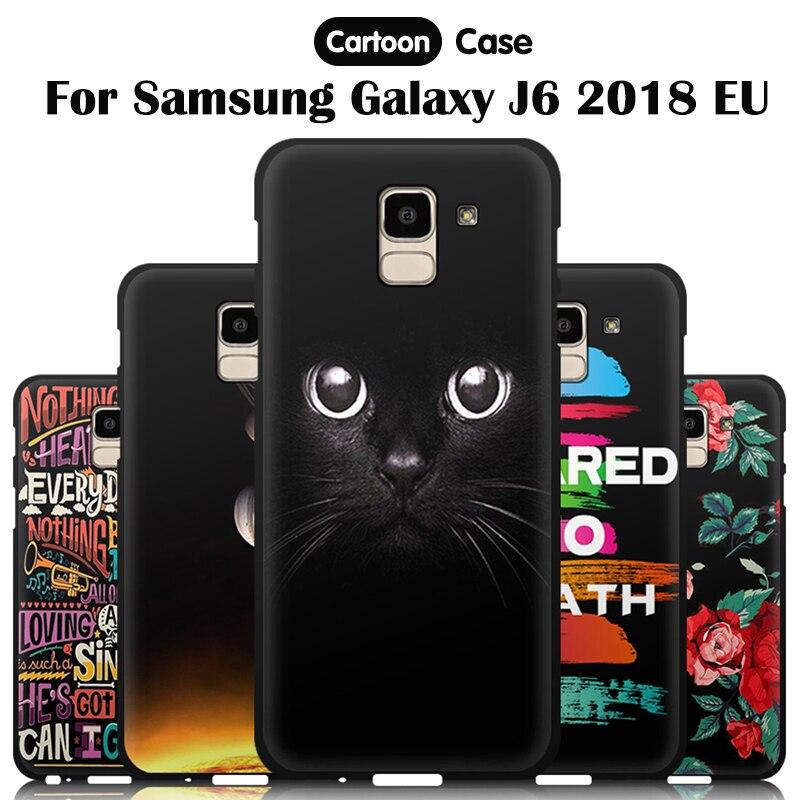 Funda de teléfono JURCHEN para Samsung Galaxy J6 2018, funda J600 J600F de silicona blanda con dibujos animados para Samsung Galaxy J6 2018, funda europea