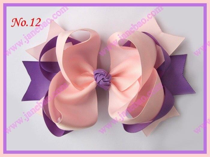 """free shipping 16pcs 8"""" big ring hair bows boutique hair bows clip"""