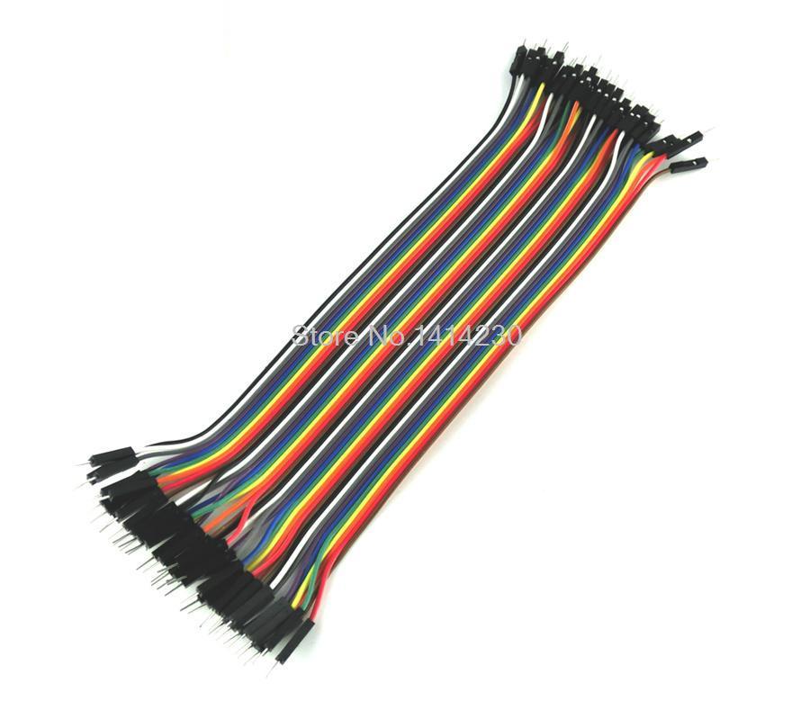 Cable de puente dupont de 40 pines cable dupont línea macho a macho dupont línea 20cm 1P diámetro 2,54mm