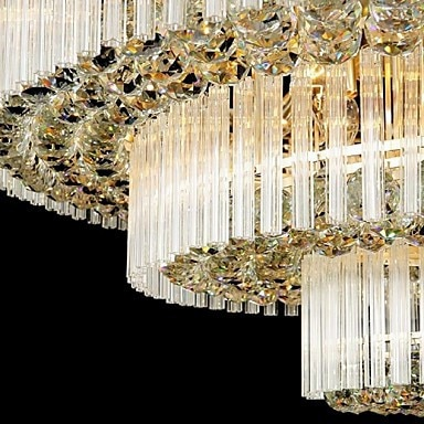Modern Luxury Chandeliers K9 Crystal LED Living Room Droplight Diameter 80*80*48CM Contains LED Bulbs  - buy with discount