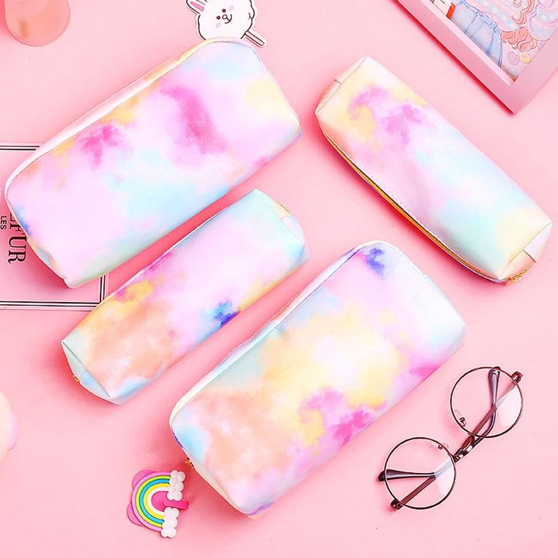 Travel Cosmetic Bag Lovely Colorful Makeup Case Women Zip Hand Holding Make Up Handbag Organizer Sto