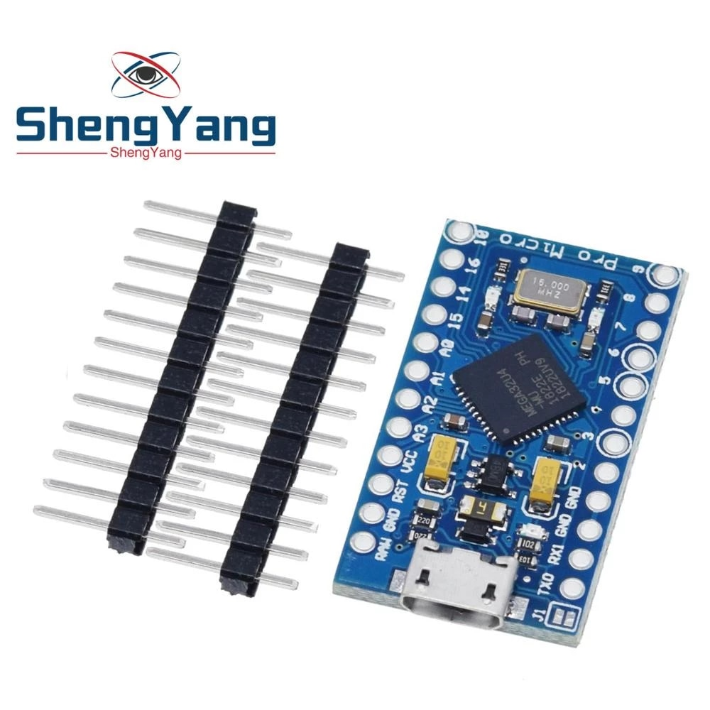 Pro Micro Atmega32u4 5v 16mhz Replace Atmega328 For Arduino Pro Mini With 2 Row Pin Header For Leonardo Mini Usb Interface Integrated Circuits Aliexpress