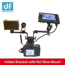 DIGITALFOTO-support pour moniteur DSLR   EVF/Microphone/support pour éclairage, avec support pour chaussures chaudes
