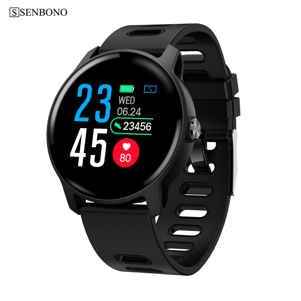 SENBONO S08 Männer Sport Pedometer Smart Uhr IP68 Wasserdichte Fitness Tracker Heart Rate Monitor Frauen Uhr Smartwatch