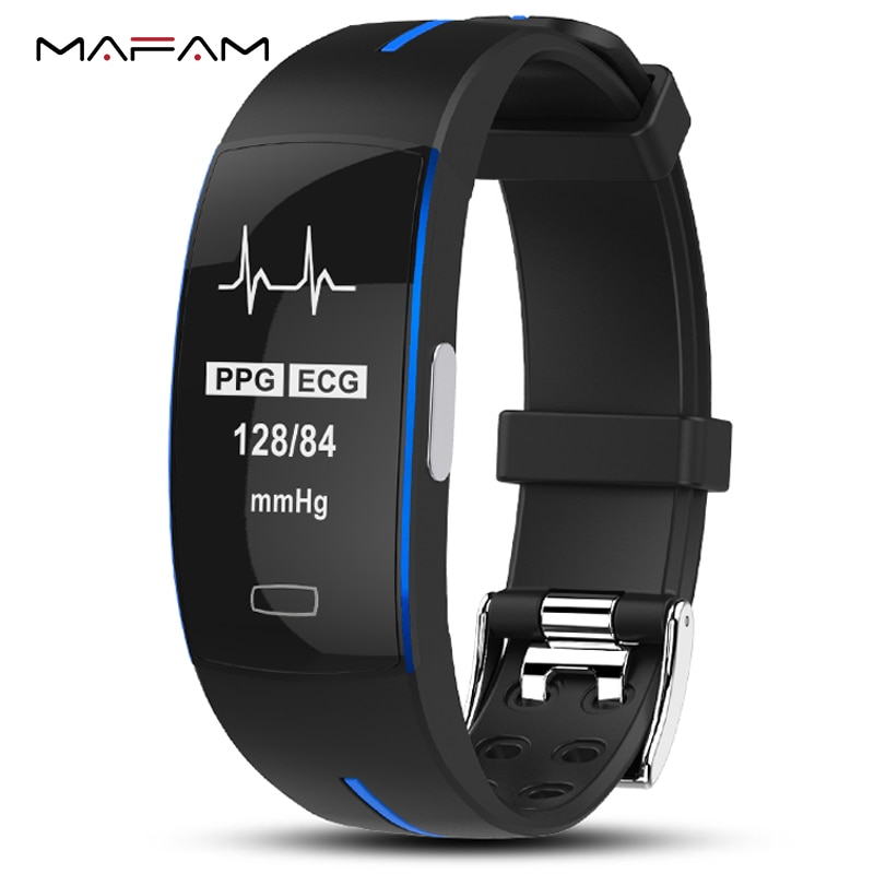 P3 ECG PPG pulsera de reloj inteligente presión arterial ritmo cardíaco monitor de Fitness podómetro deportivo IP67 pulsera impermeable