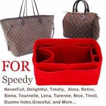 SPEEDY 25 30 35 Felt Cloth Insert Bag Organizer Makeup Handbag Organizer Travel Inner Purse Portable