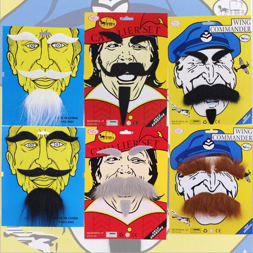 Nuevo disfraz divertido fiesta hombre Halloween barba Facial disfraz negro bigote fiesta decoración suministros Dropshipping Venta caliente