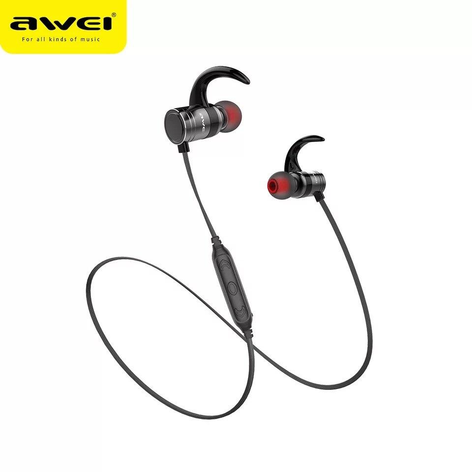 Wei AK7-auriculares, inalámbricos por Bluetooth, auriculares magnéticos inteligentes con Control a prueba de agua y con micrófono