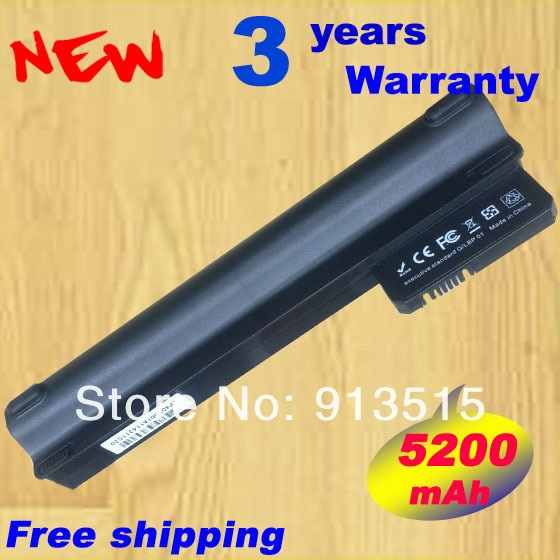 Batería de 5200mAH para Compaq Mini 102 mini 110c CQ10 CQ10-100 para Hp mini 110 mini110 mini110-1000 537626-001 HSTNN-CB0C