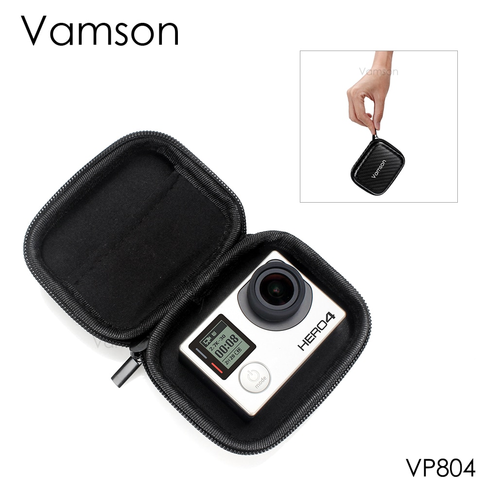 Vamson para Gopro Hero 7 6 5 4 accesorios Mini Pack caja de almacenamiento a prueba de golpes portátil cubierta impermeable para DJI OSMO Action VP804