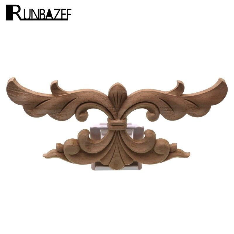 Madera Tallada RUNBAZEF Calcomanía Esquina Apliques Pared Marco de Puertas Muebles Alebrije Decorativo Figurines Artesanías De Madera Estatuilla