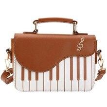 Femmes sacs Piano motif dame bandoulière sac à bandoulière sacs Messenger rabat couverture sac bonne qualité argent sac à main pochette fourre-tout femmes