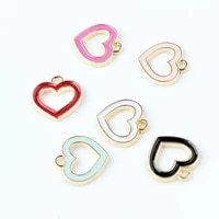 hot diy 20pcs fashion hollow love enamel charms alloy pendants for pendants necklace hair bracelet handmade jewelry accessories