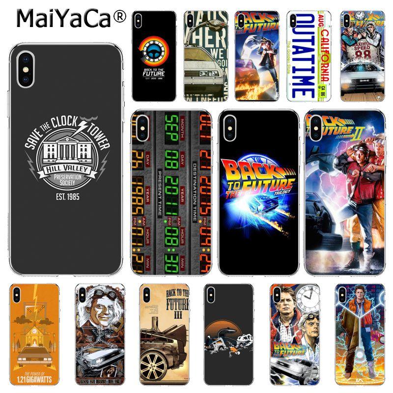 MaiYaCa volver al futuro DeLorean caja del teléfono de la máquina del tiempo para el iphone 11 Pro 11Pro Max 5 5Sx 6 7 7plus 8 8Plus X XS MAX XR
