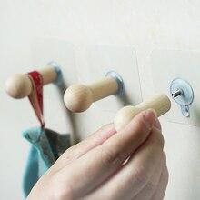 Crochet adhésif en bois sans couture   10KG, charge supportée, étanche, Transparent, fort, cintre mural pour présentoir de magasin de vêtements
