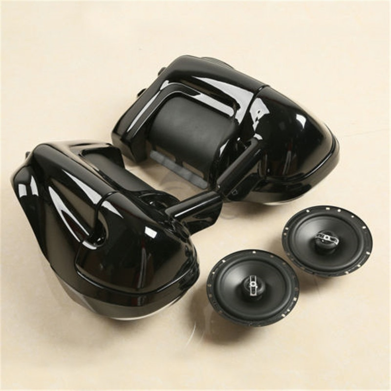 "Cápsulas de caja de carenado con ventilación inferior + altavoces de 6,5 ""para Harley Touring modelos 1983-2013 accesorios de motocicleta"