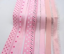 Série Pinks rubans gros-grain imprimé à pois rubans vichy à carreaux 100% Polyester tissu décor Accessoires