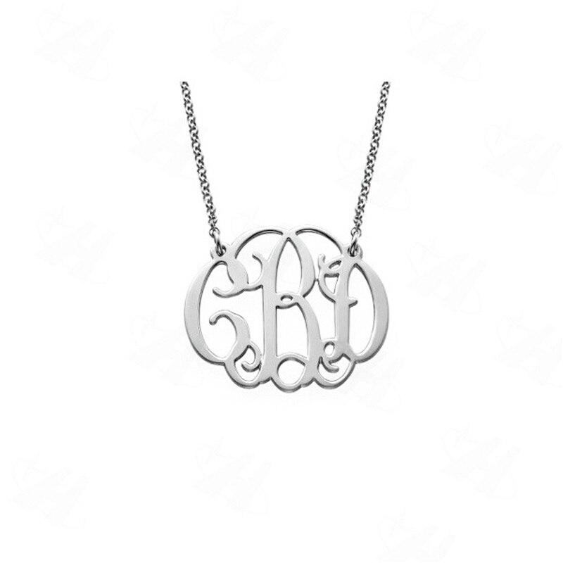 Monograma personalizado letra inicial collar plata collar con colgante personalizado joyería de nombre amistad collar de mejores amigos regalo