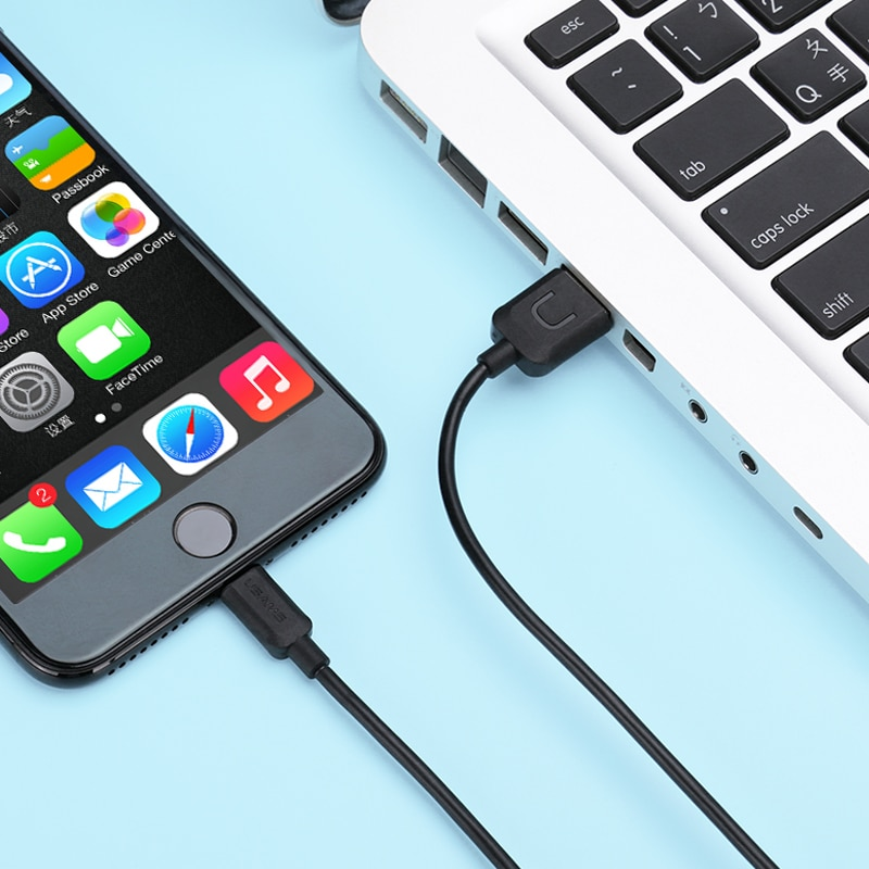 Купить с кэшбэком USAMS 1m 2A Colorful Lighting Mobile Phone Cable For iPhone 12 11 X 8 7 6 5 Series iPad IOS Fast Charger Charging Cable