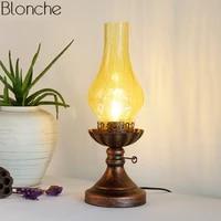 vintage kerosene table lamps for living room bedroom light glass lamp shades desk lighting fixtures loft industrial home decor