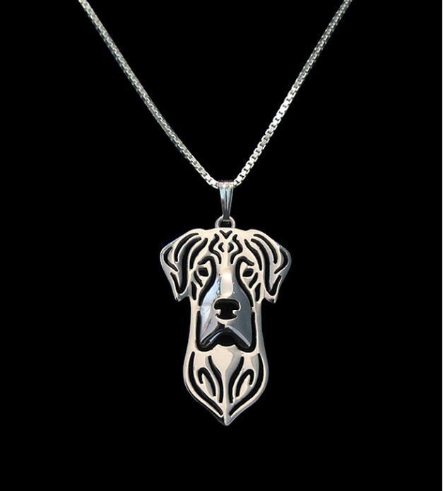 Collar moderno hecho a mano con pendiente Natural de gran danés para mujer, Gargantilla, collar de perro, joyería de regalo para los amantes de las mascotas