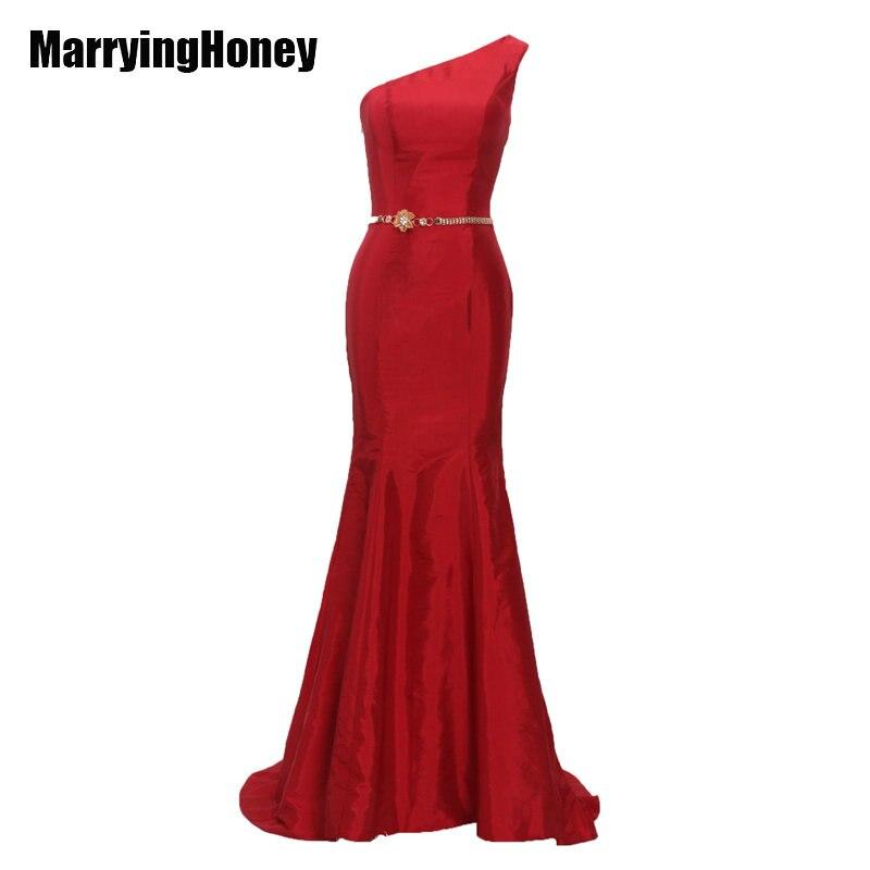 2017 красные женские вечерние платья, длинное платье на одно плечо с поясом для вечеринки