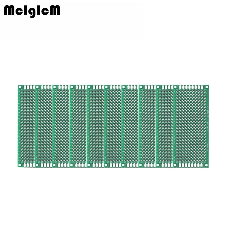 MCIGICM 5pcs Double Side Prototype PCB diy Universal Printed Circuit Board 3x7cm