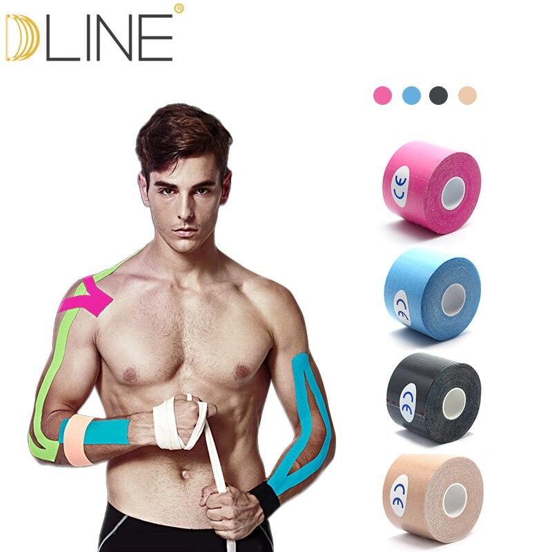 15 farben Muscle Band Sport Band Kinesiologie Band Baumwolle Elastische Adhesive Muscle Bandage Pflege Physio Strain Injury Unterstützung
