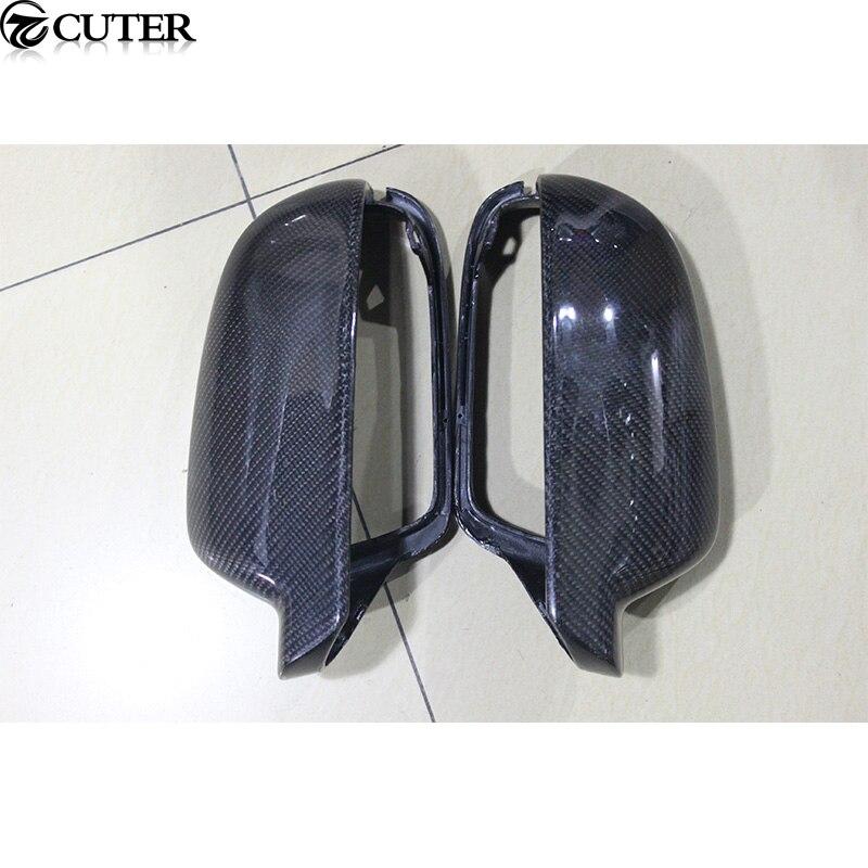 Cubiertas para espejo trasero de fibra de carbono A4 B9 A5, tapas para espejo lateral de coche con asistente de cambio de carril para Audi A4 B9 A5 LCA, envío gratis