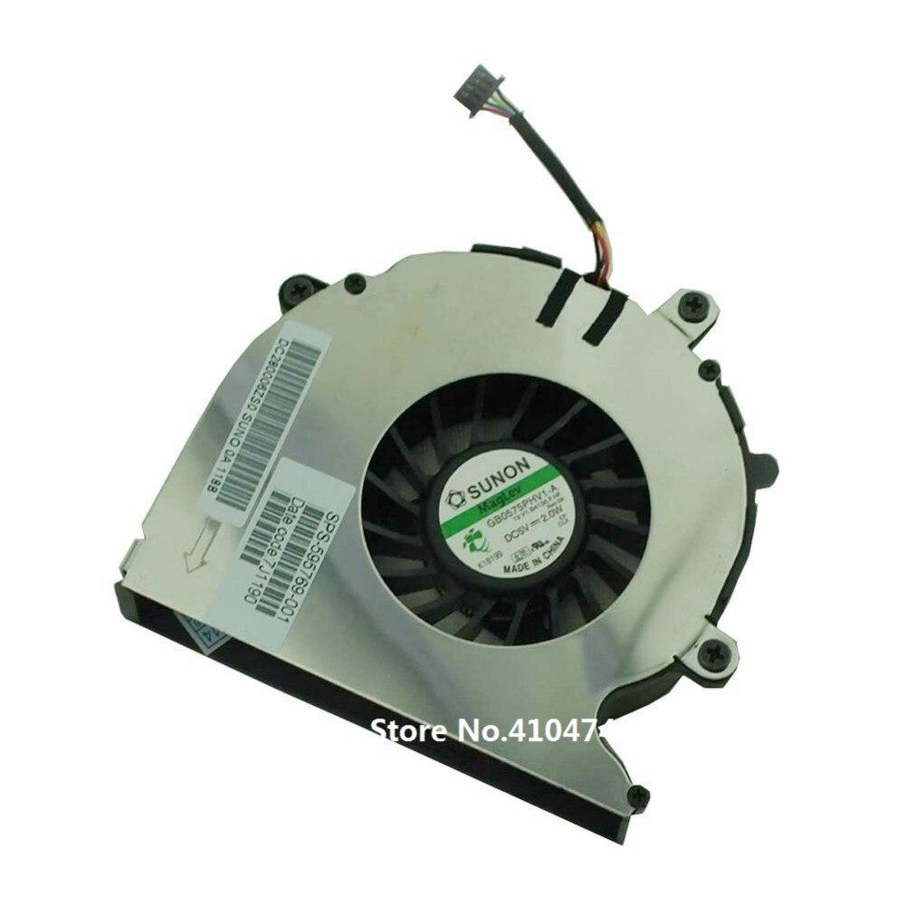 SSEA nuevo ordenador portátil ventilador de CPU para HP Elitebook 8540 8540 serie 8540 w ventilador de refrigeración de la CPU P/N GB0575PHV1-A SPS: 595769-001