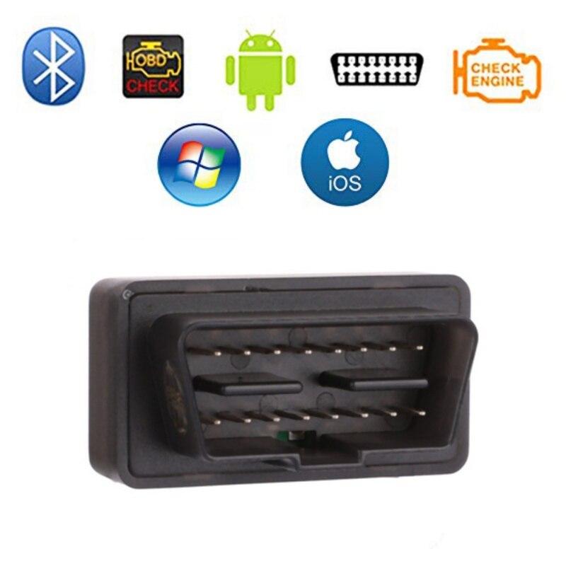 Herramienta de escaneo automático Bluetooth OBD2 ELM 327 OBD 2 Eml327 BT4.0 escáner de diagnóstico para adaptador para coches para iPhone/Android