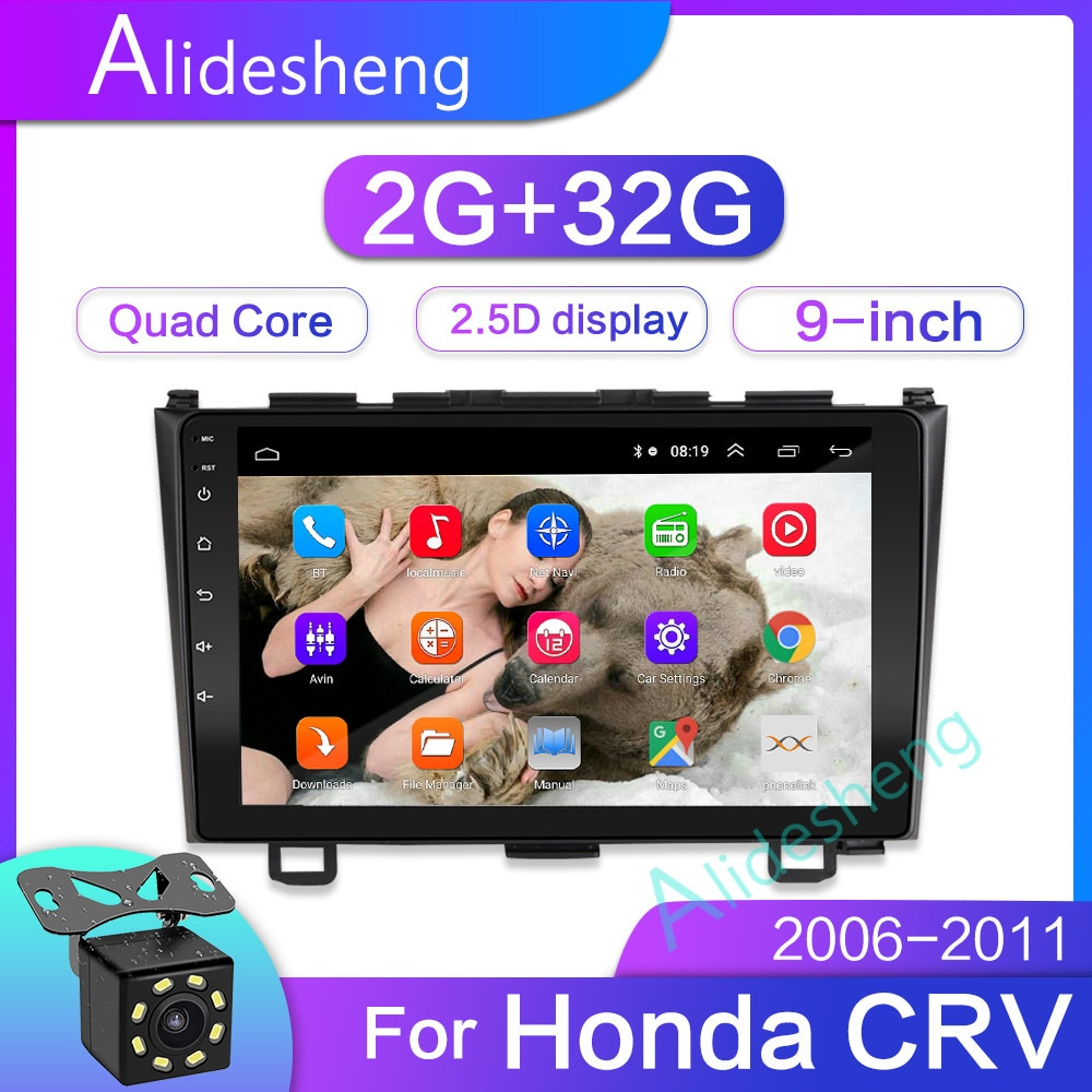 2 DIN car radio enlace espejo Android para Honda CRV C-RV 2006-2011 marco MP5 Bluetooth TF USB FM Cámara reproductor Multimedia 2din