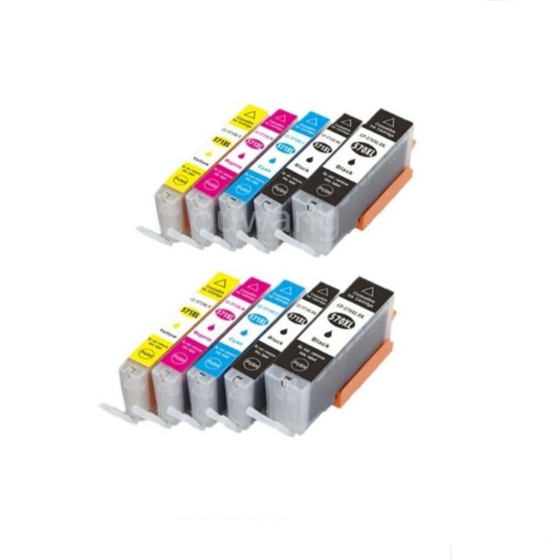 10pk compatível cartucho de tinta PGI 570 PGI-570XL CLI-571XL para Canon PIXMA TS5055 TS9050 TS9055 TS8050 TS805 TS6050 TS5051