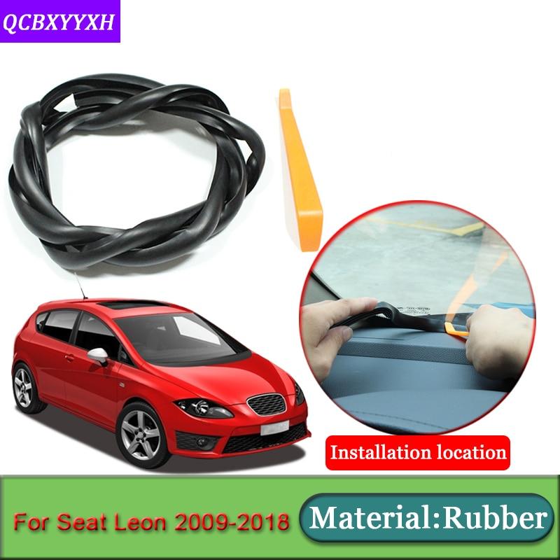 Diseño de coche apto para Seat Leon 2009-2018 bandas de sellado de parabrisas de coche a prueba de ruido insonorizadas a prueba de polvo
