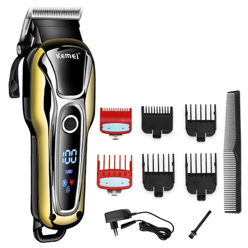 Cortador de pelo inalámbrico con cable profesional Turbo para hombres, cortador eléctrico para Máquina para cortar Cabello, corte de pelo, herramienta de barbero