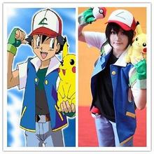 Chaqueta de Ash Ketchum personalizada sombrero y guantes cosplay de pokemon
