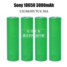Перезаряжаемые литиево-ионные аккумуляторы для SONY US 18650 VTC6 30 Ач, 3000 мАч, 3,6 В, 3,7 В, динамические