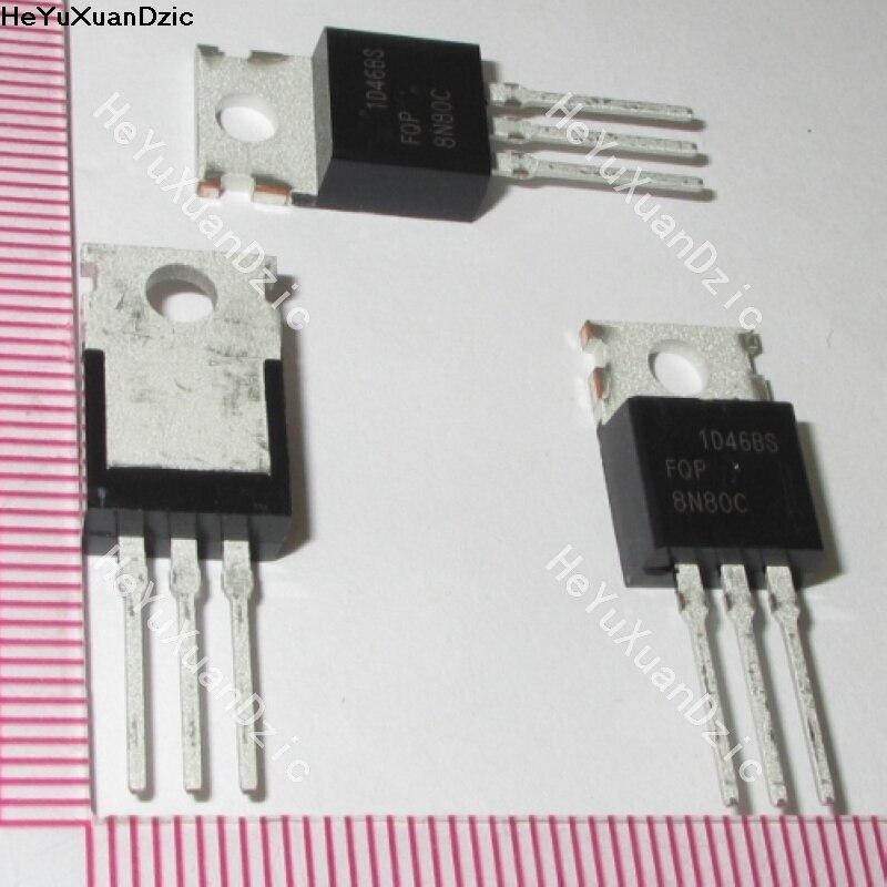 5 unids/lote FQP8N80C 8N80C FQP8N80 8N80 TO 800-220 V 8A n-ch Q-FET advance Serie C nuevo producto Original