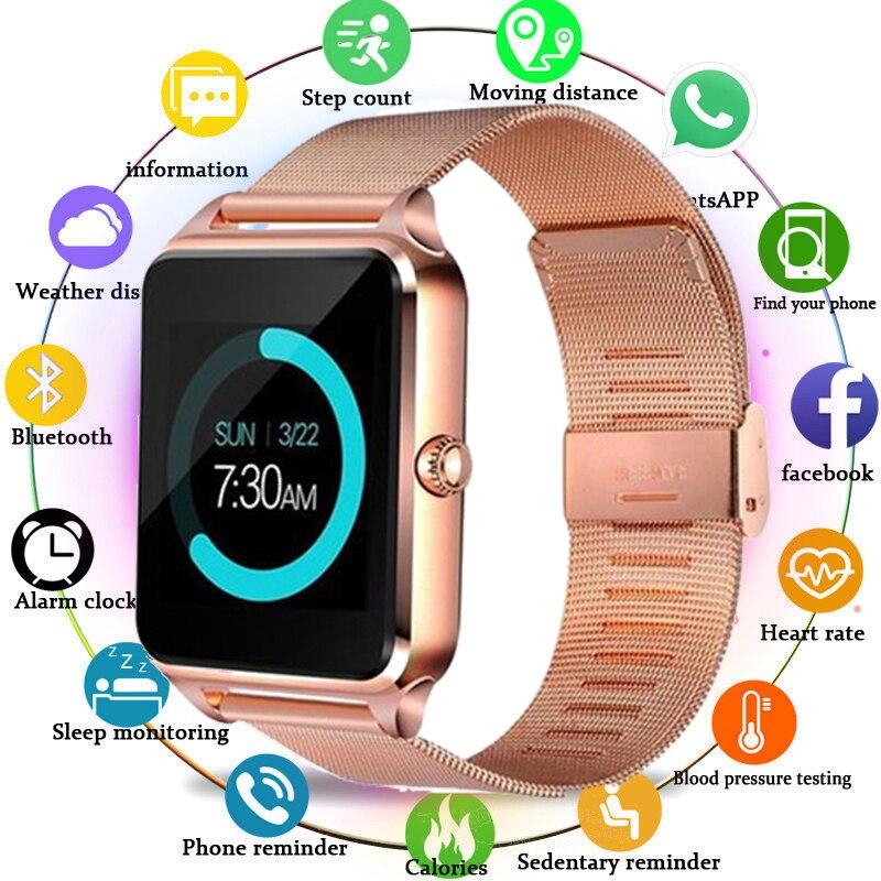 2020 GT08 Plus Смарт-часы для мужчин Z60 металлические часы с слотом для sim-карты Push Message Bluetooth фитнес-трекер подключение умные часы