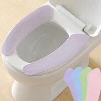Tapis de couverture de siege de toilette universel  impermeable  lavable  chauffant  confortable  doux  coussin en tissu
