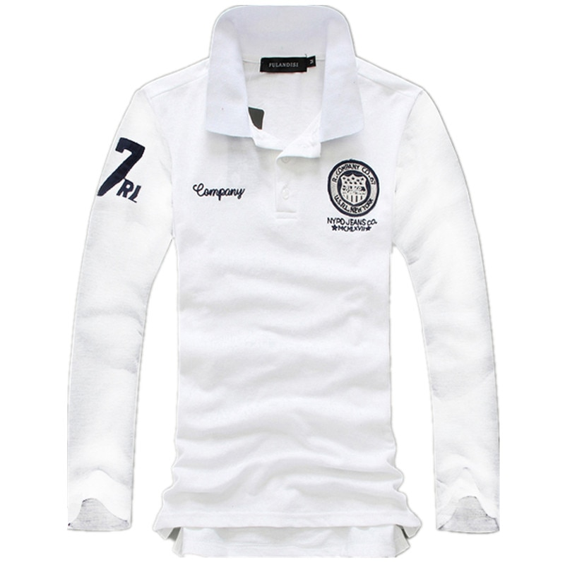 2020 Mens Long sleeves POLO shirt Large size 5xl White blue gray green men POLO shirts High quality autumn cotton t-Shir