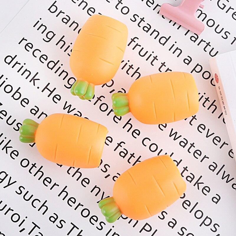 10 Uds. Juguete elástico de zanahoria para apretar comida blanda, juguetes antiestrés, juguetes sensoriales, broma mágica divertida, juguete, triangulación de envío