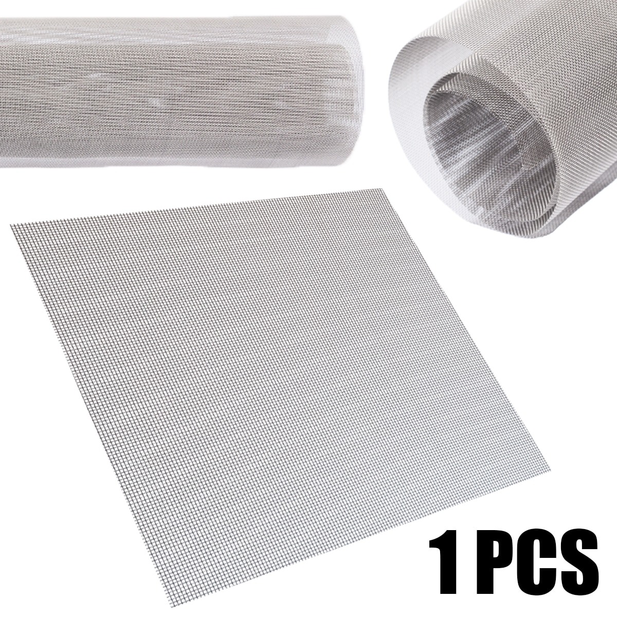 1Pcs 60 Mesh 304 Stainless Steel Filtration Woven Wire Mesh Cloth Screen 30x30cm with Weather Resist