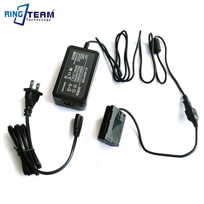 Adaptador de alimentación de CA EH-5 /A/B + EP-5B para Nikon 1V1 D7200 D7100 D7000 D810 D810A D800 D800E D750 D850 D610 y D600 cámaras digitales