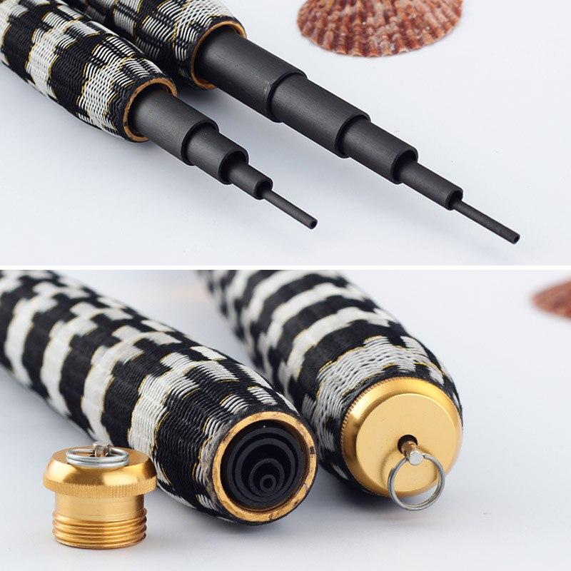 Caliente 2,7 m-7,2 m telescópico fibra de carbono súper duro Ultra ligero tipo carpa caña de pescar Stream caña de pescar mano poste ganchos de pesca