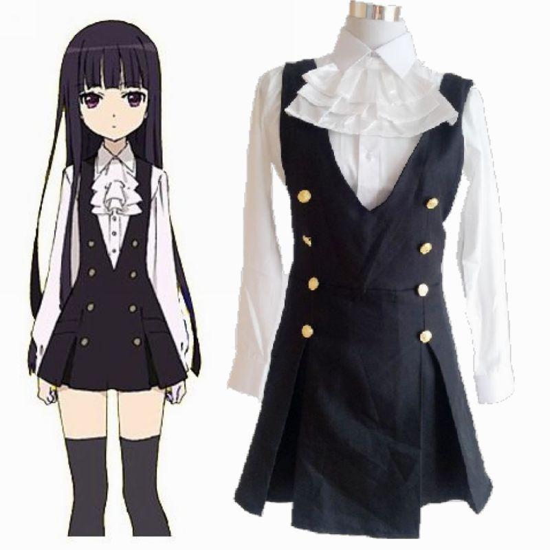 Japón Anime Inu X Boku servicio secreto Cosplay traje ririchiyo shirakiin dama uniforme mujer uniforme
