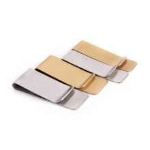 1PCS Stainless Steel Money Clip Wallet Purse for Pocket Metal Money Holder 2Sizes Money Clip Cash Clamp Holder Portable Brass