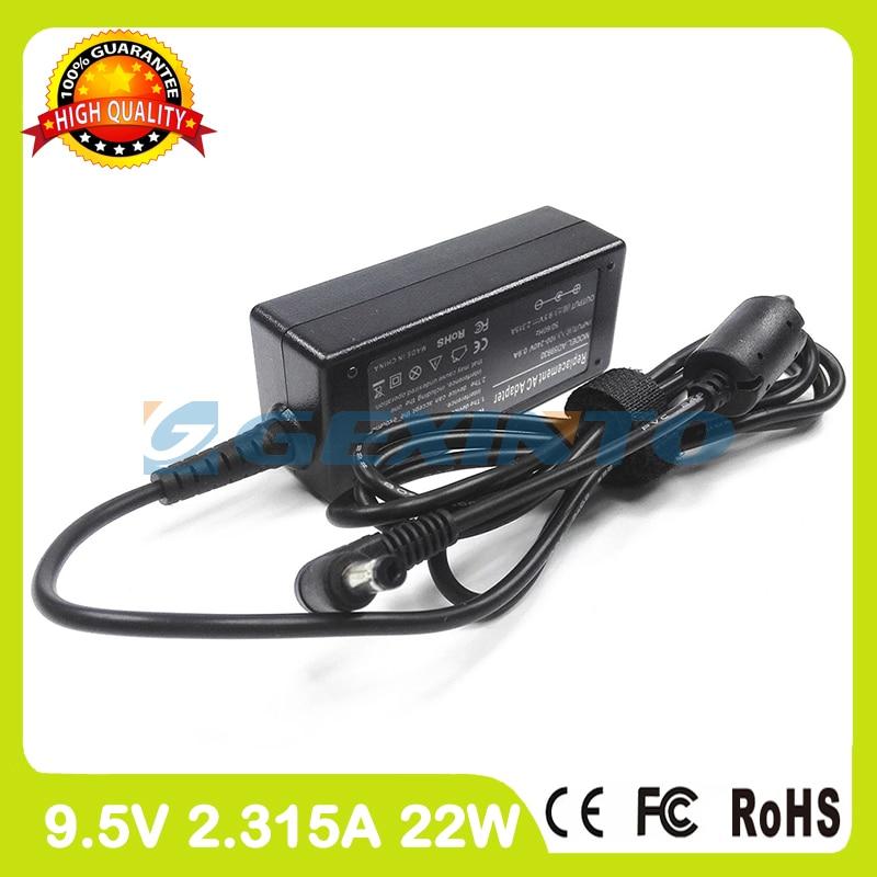 9,5 V 2.315a 22W cargador del ordenador portátil adaptador de alimentación de CA para Asus Eee PC 700 de 701 701C 701SD 701SDX 703, 801 de 900 701A 704SAE