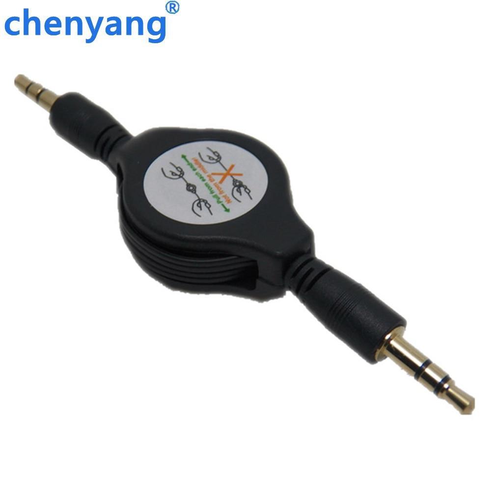 1 M cabos de linha de cabo de áudio aux masculino 3.5 para 3.5mm Masculino trecho para o iphone Ipod mp3 psp cada extremidade música adaptador receptor estéreo outp