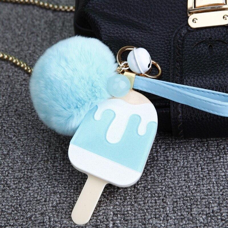 Envío Gratis 50 unids/lote llavero para monedero icestick azul percha con pompón ducha de boda favores, regalos para fiestas y eventos suministros